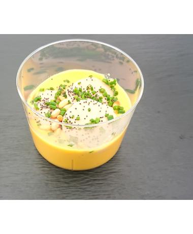 Mousseline de courge muscade au foie gras