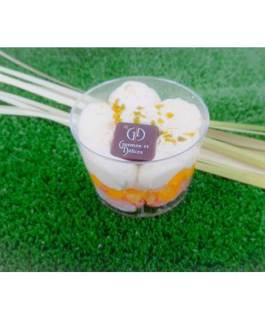 Tiramisu ananas et mangue rôtie aux biscuits roses de Reims
