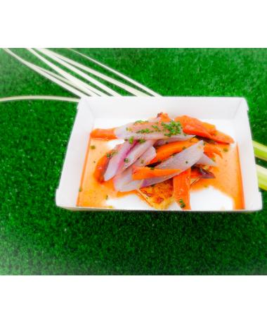 Risotto croustillant aux légumes d'hiver sauce curry rouge
